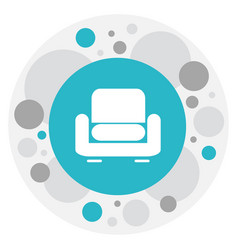 of interior symbol on seat vector image