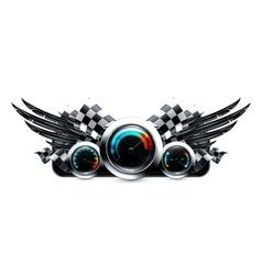 Dashboard emblem vector image vector image