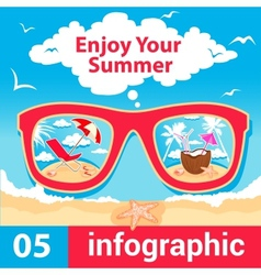 infographic summer time vector image vector image