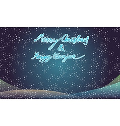 Merry christmas and happy newyear typography vector image vector image