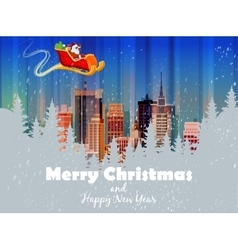 Merry christmas card Happy vector image
