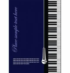 piano wit microphone vector image