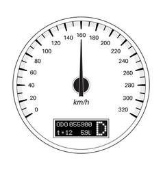 speedometer 160 km per hour outline flat vector image vector image