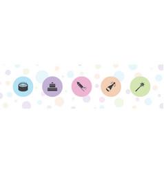 5 celebrate icons vector