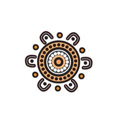 Aboriginal art dots painting icon logo design vector
