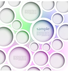 Abstract web design bubble with line background vector image