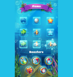 atlantis ruins - the booster items screen vector image