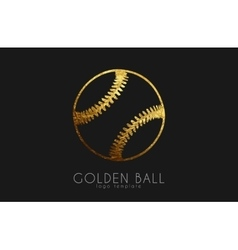 baseball game design baseball ball golden ball vector image