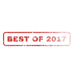 best of 2017 rubber stamp vector image vector image