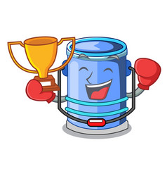 Boxing winner bucket cylinder water in shape vector
