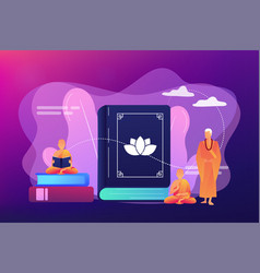Buddhism concept vector