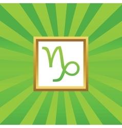 Capricorn picture icon vector