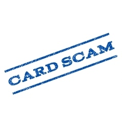 Card Scam Watermark Stamp vector image