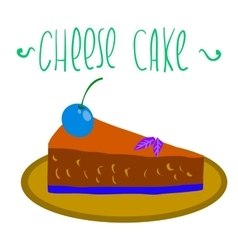 Cartoon cheese cake icon vector image