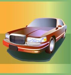 Cartoon limousine color 3d vector