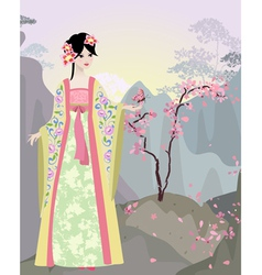 China girl vector image