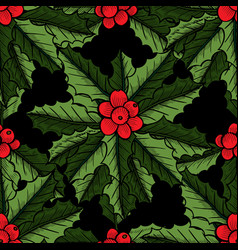 christmas mistletoe pattern vector image