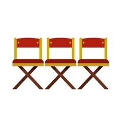 Cinema seats icon in flat style vector image