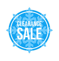 Clearance sale sign circular winter sale vector