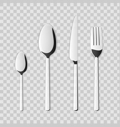 creative top view cutlery set vector image