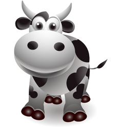 cute cow cartooon vector image vector image