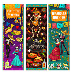 dance life and death dia de los muertos in mexico vector image