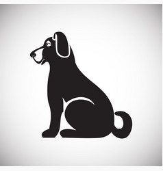 dog pet icon on white background for graphic and vector image