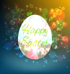 Easter Egg Isolated on yellow background vector image