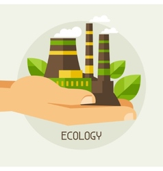 Ecology protection concept vector
