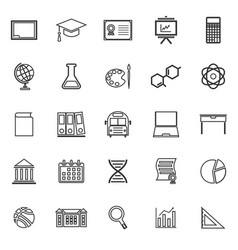 education line icons on white background vector image
