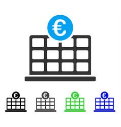 Euro hotel flat icon vector