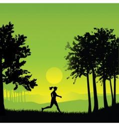 Female jogger vector