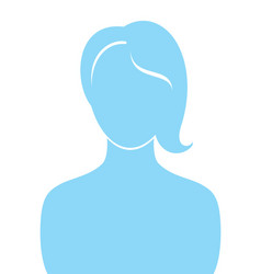 Female profile silhouette vector