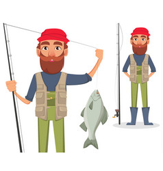 fisher cartoon character vector image
