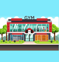 Fitness center gym vector