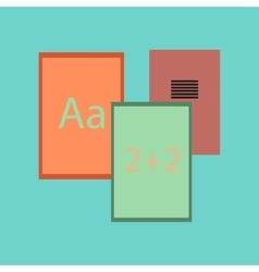 Flat icon on stylish background school notebooks vector