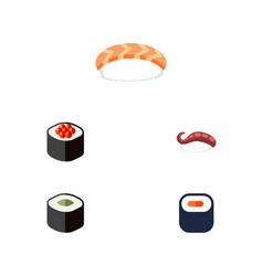 Flat icon sashimi set of seafood sashimi vector