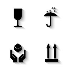 Fragile package symbol vector image