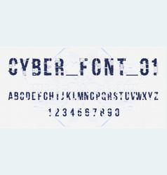 futuristic font design letters and numbers vector image