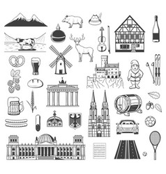 Germany sybmols objects and characters vector