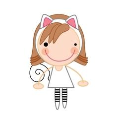 Girl smiling cartoon vector