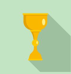 gold jewish cup icon flat style vector image