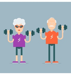 Grandparents Sport Characters vector image vector image