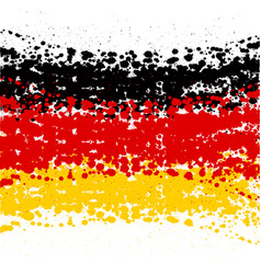 grunge blots germany flag background vector image