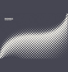 Halftone rhombus abstract geometric technology vector