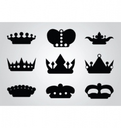 Heraldry icons vector