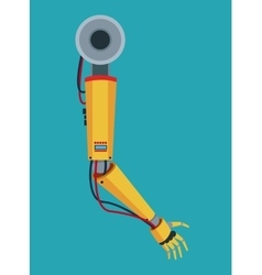 Industrial robot arm industry factory vector