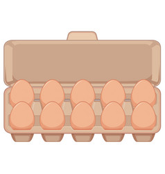 Isolated egg in carton vector