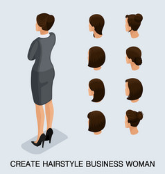 Isometric set womens haircuts vector