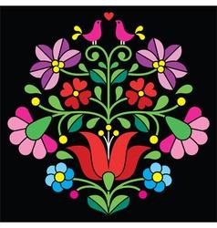 Kalocsai embroidery - Hungarian folk pattern vector image